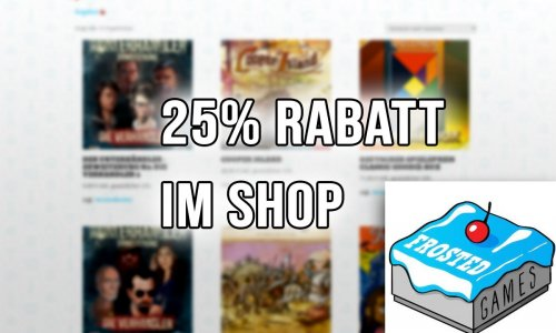 ANGEBOT // 25% Rabatt im Frosted Games Shop