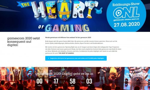 GAMESCOM 2020 // digitale Messe startet heute