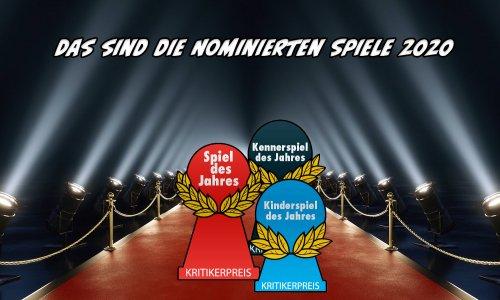 SPIEL DES JAHRES // Die Nominierten im Jahr 2020 (UPDATE)