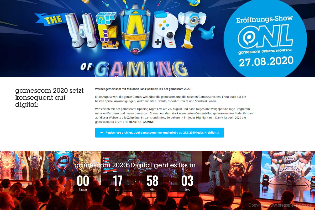 GAMESCOM 2020 // digitale Messe startet heute