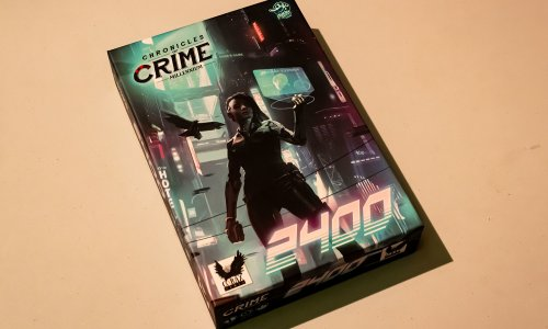 CHRONICLES OF CRIME: 2400 // erste Bilder vom Spielmaterial