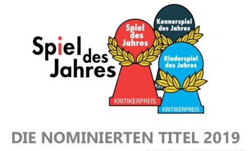 SPIEL DES JAHRES 2019 // Nominiert sind...