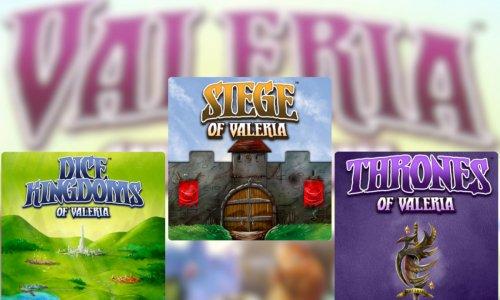 Drei neue VALERIA Spiele // von DAILY MAGIC GAMES angekündigt